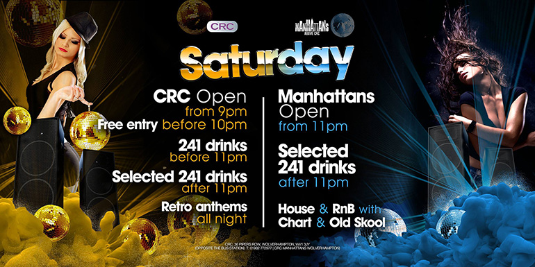 CRC Manhattans Saturday Offers