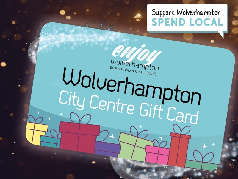 What is the Wolverhampton City Centre Gift Card and why should you buy one as a gift for Christmas?
